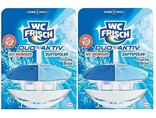 WC FRISCH Duo-Aktiv Karibische Brise, WC-Reiniger und Duftspüler, 2er Pack (2 x 1 Stück)