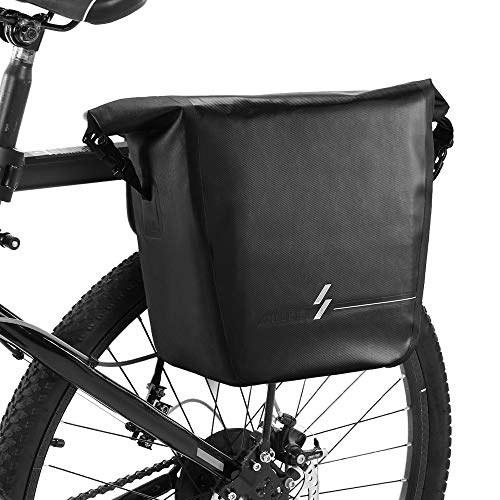 Review Of Leepesx 18L Waterproof Bike Rear Rack Bag Bicycle Pannier Bag Shoulder Bag Cycling Touring...