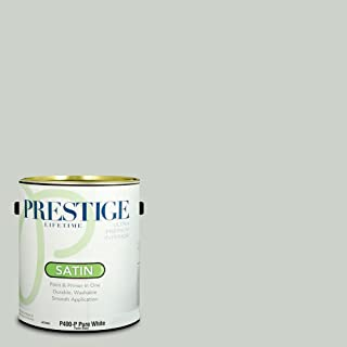 Prestige Paints P400-P-SW6204 Interior Paint and Primer in One, 1-Gallon, Satin, Comparable Match of Sherwin Williams Sea Salt, 1 Gallon, SW189-Sea