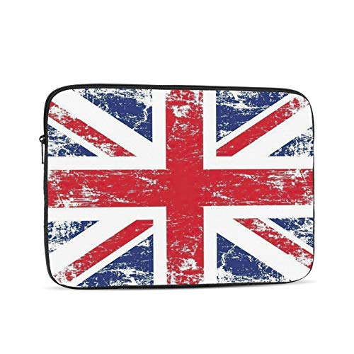 KXT British Flag Laptop Sleeve Case,Briefcase Cover Protective Bag,Ultrabook Netbook Carrying Handbag for Women Men