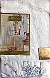 Blumarine Toalla de baño Pensiero 100 x 150 cm rizo 100% algodón (azul)