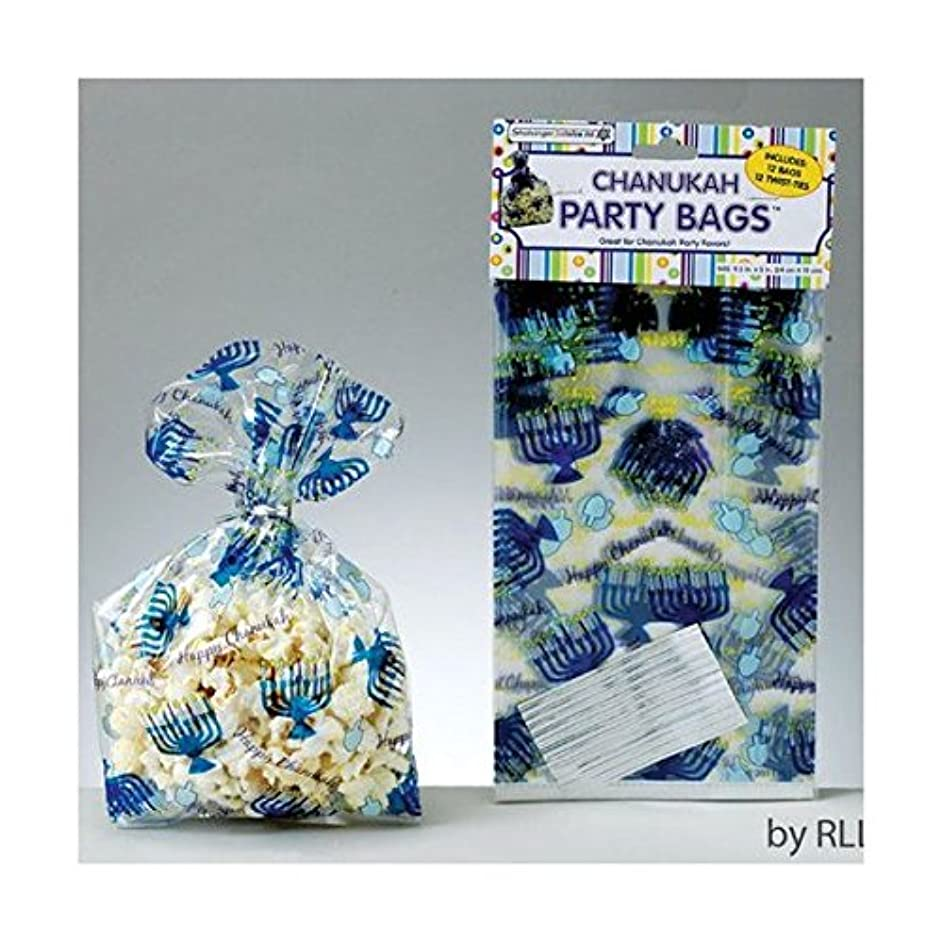 Chanukah Cellophane Party Bags with Twist Ties 12 per pack