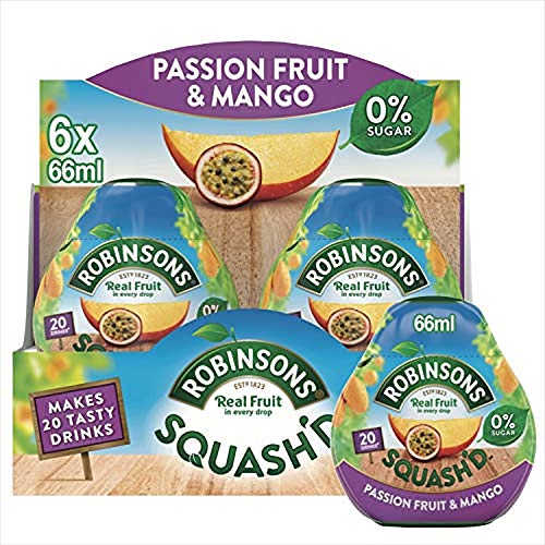 Robinsons SQUASH'D, No Added Sugar, Real Fruit, Passion...