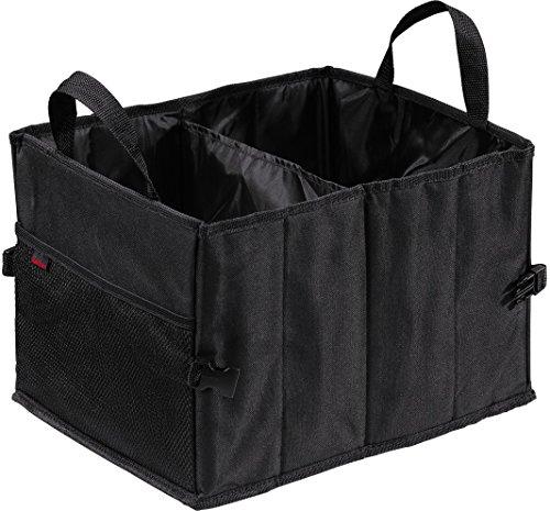 Hama Auto-Kofferraumtasche mit Klettbefestigung, faltbar, klein (37 x 29 x 25 cm) schwarz