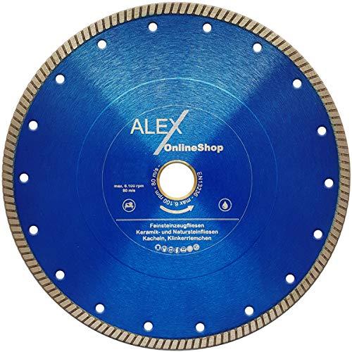 PREMIUM tegels diamant-doorslijpschijf Ø 125 mm - 350 mm - fijnsteengoed - keramiek - natuurstenen tegels - tegels - vloertegels - klinker - dakpannen- klinkerriempje, Ø 200mm x 30,0mm