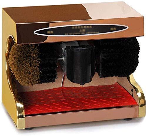 KUANDARMX motorisierte elektrischer Haushalt Shoe Bürstmaschine Schuhcreme, voll selbstreinigende Asynchronmaschine, selbstSchuhVorrichtung, Rose Gold, 38x21x31cm