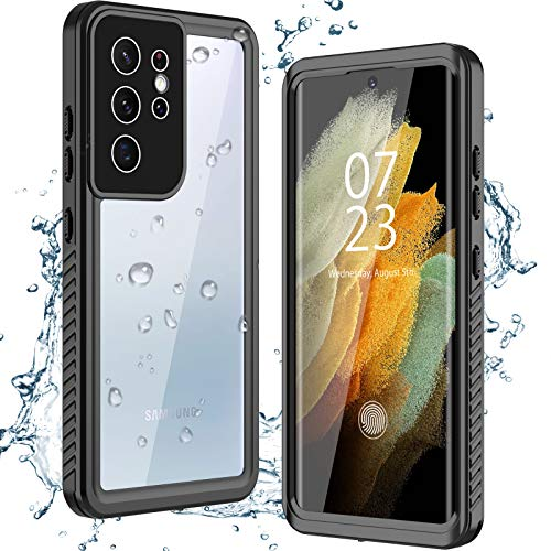 Photo of Nineasy for Samsung Galaxy S21 Ultra Case, IP68 Waterpoof Dustproof Shockproof Case with Built-in Screen Protector Full Body Clear Cover Waterproof Case for Samsung S21 Ultra 6.8″ 5G 2021 (black)