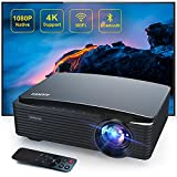 Best Android Projectors - 5G Wifi Bluetooth Projector Support 4K,Auuner AR650 8500 Review