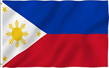 Anley Fly Breeze 3x5 Foot Philippines Flag - Vivid Color and UV Fade Resistant - Canvas Header and Double Stitched - Filipino Philippine National Flags Polyester with Brass Grommets 3 X 5 Ft