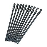 10 piezas 150 mm 1/4 pulgadas vástago hexagonal para uso industrial, magnético fuerte y alta precisión, juego de puntas de destornillador PH2 con cabeza Cro-ss de acero S-2