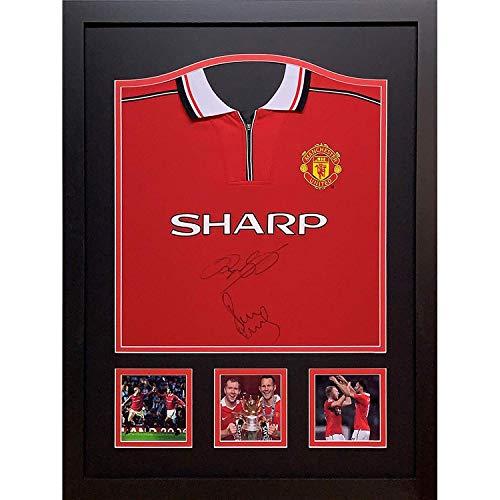 Allstarsignings Ryan Giggs/Paul Scholes Manchester United 1999 Trikot mit Echtheitszertifikat und Nachweis