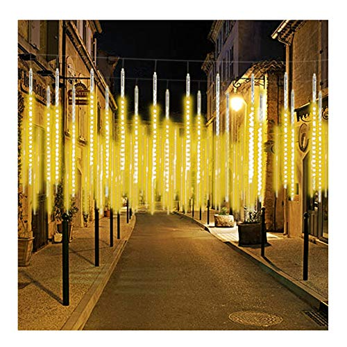 YLLYLL LED Meteor Shower Raindrop Light Waterproof Icicle String Lights Waterproof 8 Tubes Halloween Christmas Home Gardening/Outdoor Decoration