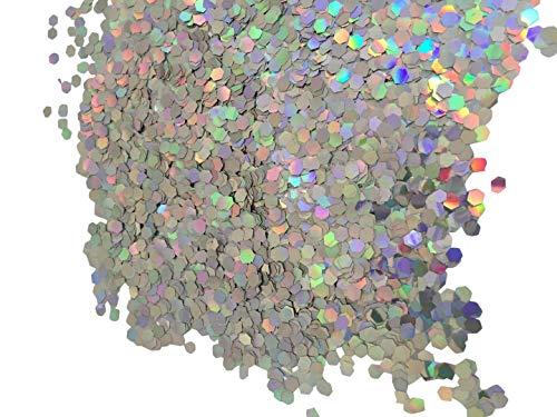 Farbchips für Epoxidharz Garagenboden Bodenbeschichtung Dekochips (hollogramm silber)