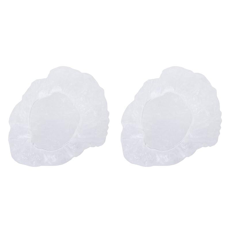 脈拍してはいけません芸術プラスチック製 ポリエチレン 使い捨て シャンプーハットシャワーキャップ カバー 透明 200枚