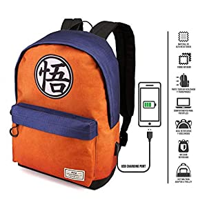 51Lb71eFlfL. SS300  - Karactermania Dragon Ball Symbol - Mochila Tipo Casual, Multicolor, 42 cm