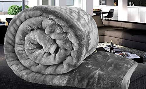 Crème Throw Blanket Canapé Throw Large Fausse Fourrure Imitation Vison 150X200 double face