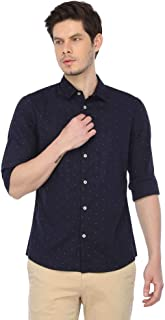 Celio Mens Slim Collar Printed Shirt