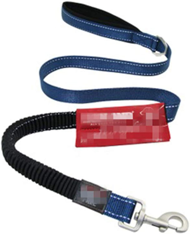 OPPALE Pet Leash Rope Elastic Rope Large Dog Hyena Rope Large Dog Supplies Stretchable Dog pet Leash (color   bluee, Size   85 Yards)