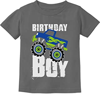 Birthday Boy Gift for Boys Big Truck Birthday Toddler Kids T-Shirt