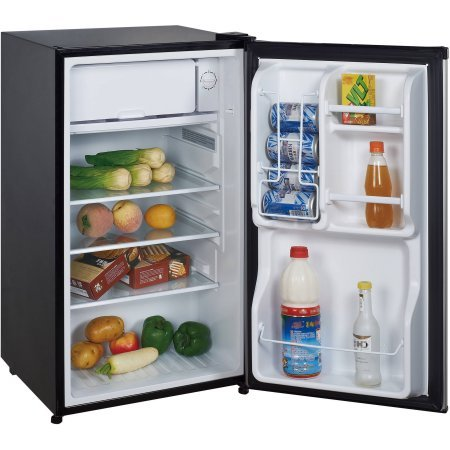 Magic Chef 3.5 cu ft Compact Single Door Refrigerator, Stainless Look