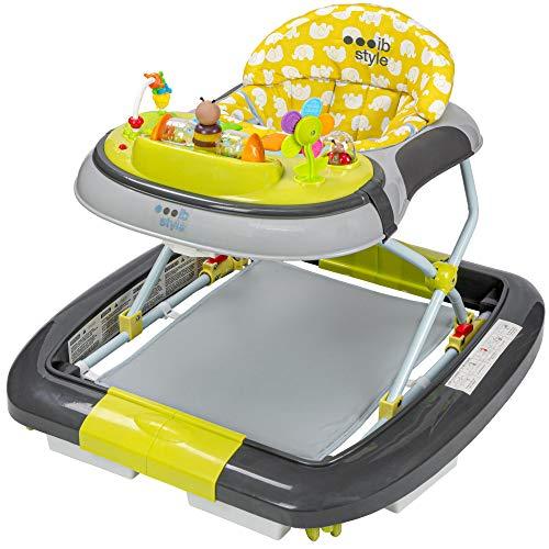ib style -Little Driver | 3 in 1| Girello,swing e scrivania di attività |grigio-limone