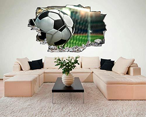 3D LookWandtattoo Tätowierungen 60×90cm Fußball Tor Club Sport Ultras Fans Wandtattoo Aufkleber C412