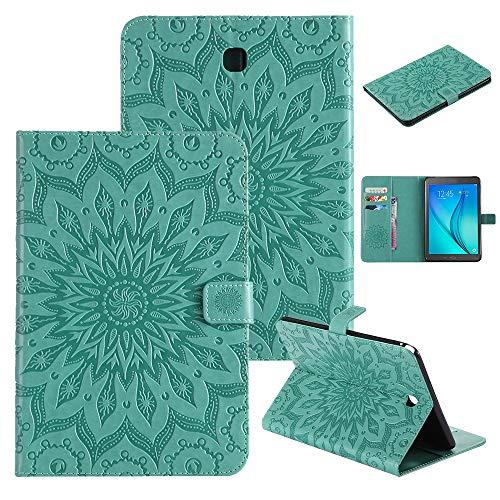 QiuKui Tab Funda para Samsung Galaxy Tab A 8.0, DISEÑO DE ENFSINGSING PU CUERTURO DE Cuero PUSA DE Stand Funda para Choque para Samsung Galaxy Tab A 8.0 2016 SM-T355 SM-T350 (Color : Verde)
