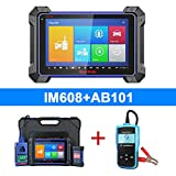 Autel MaxiIM IM608, Top Key Programming Diagnostic Tool for Programming, ECU Coding, 30+ Service Functions with IMMO XP400 Key Programmer, J2534 Reprogrammer, Free Car Battery Tester AB101 is Given