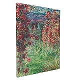 Claude Monet la casa en giverny bajo las rosas La maison dans les Roses 1925 30,5 x 40,6 cm impresionismo pintura arte hogar clásico decoración de pared