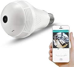 Zenly Wireless Panoramic IP Camera 2/3MP 360 Degree 3D VR Bulb Light FishEye WiFi Surveillance CCTV Home Security Mini Cam...