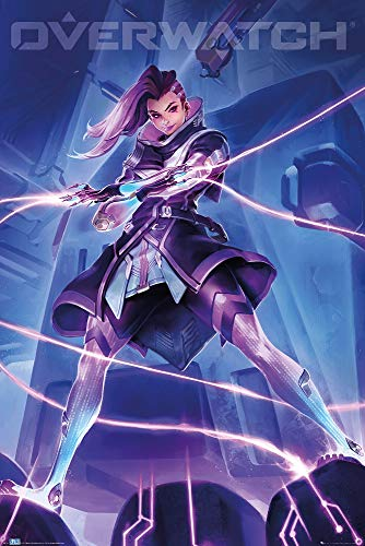POSTER STOP ONLINE Overwatch - Gaming Poster (Sombra) (Size 24 x 36)