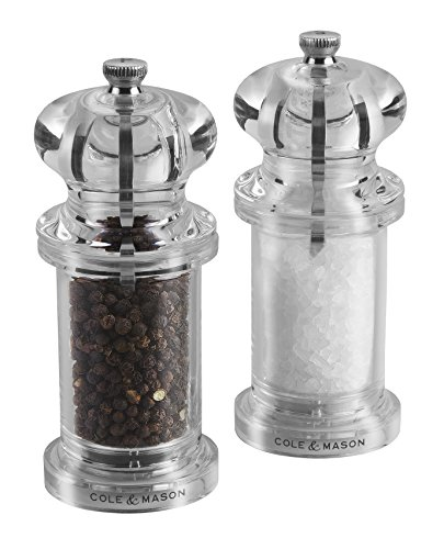 "Cole & Mason 505"" Salt/Pepper Mill, Acrylic, Gift Set"
