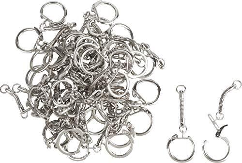 Anneaux porte-clés avec chaînette, Gros acheteurs VBS, 50 pc.