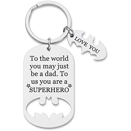 Personalized Father Day gift from kids Mixed Metal Keychain Daddy gift-a daughters first love,a sons first hero,our hero,worlds best dad