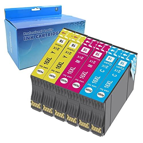Teng 6color 16XL Cartuchos de Tinta Compatible con Epson 16 para Epson Workforce WF-2630WF WF-2630 WF-2510 WF-2530 WF-2650 WF-2750 WF-2760 WF-2010 WF-2540 WF-2660 WF-2520