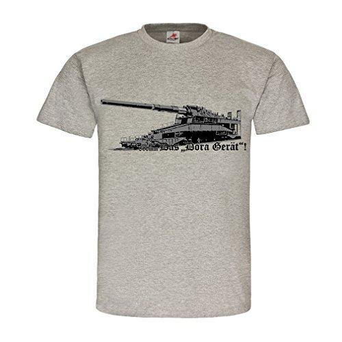Eisenbahngeschütz Dora Gerät 80cm Kaliber Geschütz Kanone - T Shirt #18498, Größe:L, Farbe:Grau