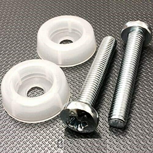 KADco2 Kopfteilschrauben (M8 x 50 mm), komplett mit Kunststoff-Unterlegscheiben, Schrauben-Set.