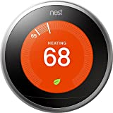 Google, T3007ES, Nest Learning Thermostat, 3rd Gen, Smart Thermostat, Stainless Steel, Works Wi…