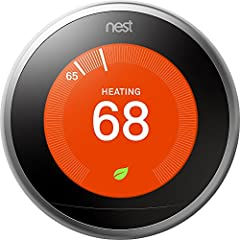Programmable smart thermostat that learns your schedule and the temperatures you like and programs itself to help you save energy and stay comfortable Home/Away Assist automatically adjusts itself to an Eco Temperature after you leave, so you don't h...