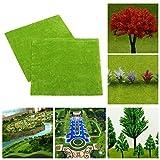 4 unids/set modelo tren diseño verde hierba estera 25x25cm HO escala paisaje césped decoraciones