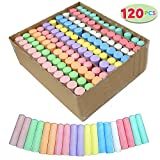 Joyin 120 Pack Giant Box Non-toxic Jumbo Washable Sidewalk Chalk Set in 10 Colors (120 Pieces)