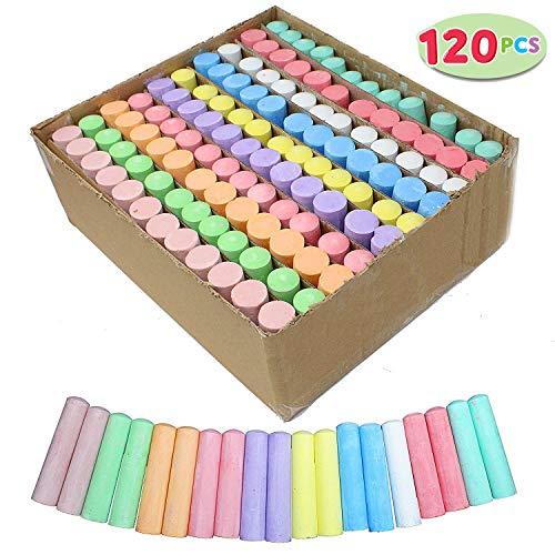 Joyin 120 Pack Giant Box Non-toxic Jumbo Washable Sidewalk Chalk Set