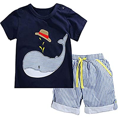 Fiream Little Boys' Cotton Clothing Short Baby Sets, 2001TZ, 18-24 Months from
