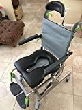 Raz Design Inc Z300 RAZ-AT Rehab Shower Commode Chair