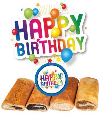 Happy Birthday - Hungarian Nut Rolls - Cheese
