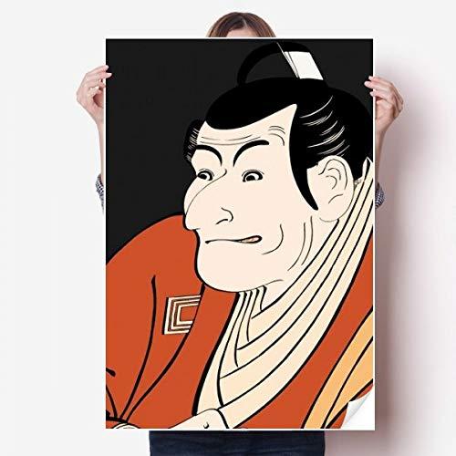 DIYthinker Japanse Stijl Ukiyoe Man Kimono Vinyl Muursticker Poster Mural Wallpaper Room Decal 80X55Cm