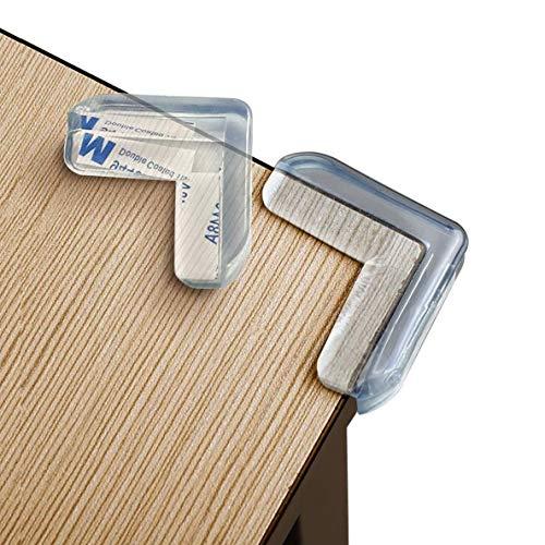 8 Stück| Eckenschutz Kantenschutz für Baby & Kindersicherung, L-Förmig - für Tisch und Möbel Ecken - Transparent, Hochfester Klebstoff, Einfach zu Installieren.