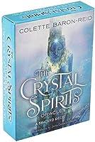 HEZHANG Crystal Spirits Tarot Oraclee a 58Cardデッキとガイドブックカードゲームおもちゃゲームカードデッキ