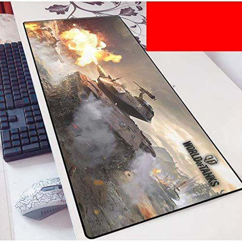 Tappetino Mouse Gaming Grande Gaming Mouse Pad Grande Tappetino mouse World Of Tanks tastiera del gioco Mat Mat Cafe estesa Mousepad for Personal Computer Mouse Pad ( Color : B , Size : 900*400*3mm )