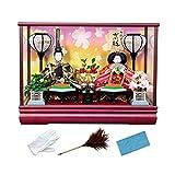 [キョウエツ] 雛人形 ケース飾り ひな人形 コンパクト 親王飾り TS5